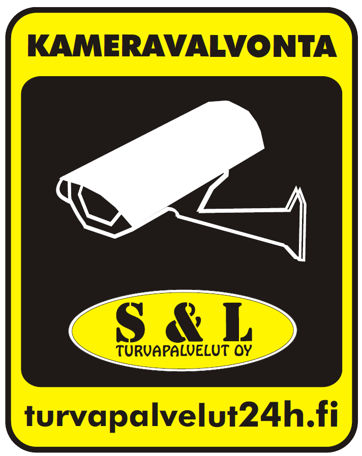 Turvapalvelut 24h.fi tarra kohteen kameravalvonnasta