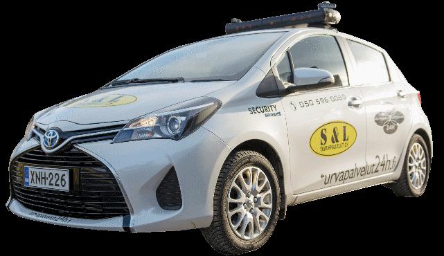 S&L Turvapalvelu 24h auto vartiointitehtävissä